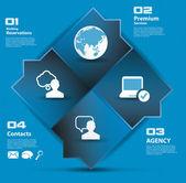 Social media in technology background — Stock Vector