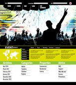 Plantilla de sitio web de música — Vector de stock
