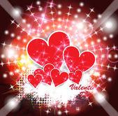 Happy valentines day hart — Stockvector