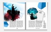 Layout magazine pages. — Stock Vector
