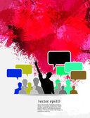 Social media i sieci ilustracja. — Wektor stockowy