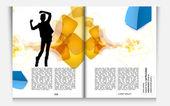 Magazine design — Stock Vector
