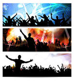 Music banners set — Stock Photo