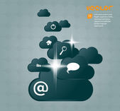 Cloud group — Stock Vector