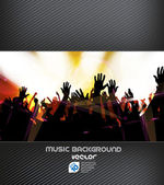 Colorful music backgroung — Stock Vector