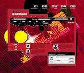 Modello di progettazione sito Web — Vettoriale Stock