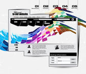 Web site template design — Vector de stock