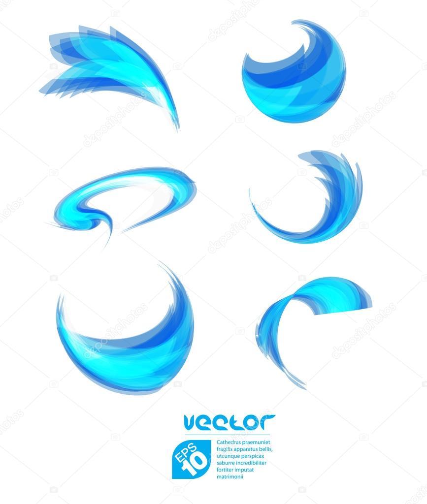 蓝色的大海波涛一套 — 图库矢量图片 #42478181