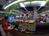 People at street food market — Stock Photo