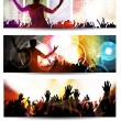 Concert banner set — Stock Vector