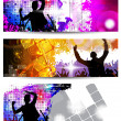 Nightclub banners set — Stock Vector