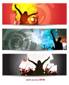 Music banners set — Stock Vector
