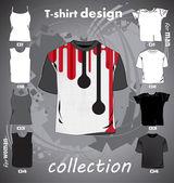 Modelo de t-shirts — Vetorial Stock