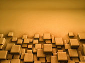 3D Blocks Background — Foto Stock