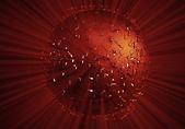 Röd explosion bakgrund — Stockfoto