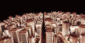 3d city town — Stock Photo