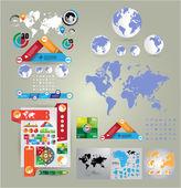 Zestaw elementów infografika — Wektor stockowy