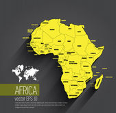 Africa map — Stock Vector