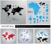 World map — Stock Vector