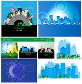 City Skylines — Stock Vector