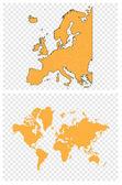Weltkarte. Europa — Stockvektor