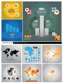 Big set of World map — Stock Vector