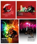 Bmx велосипедистов — Cтоковый вектор