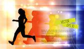 Running — Cтоковый вектор