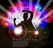 Disco club poster — Stock Vector
