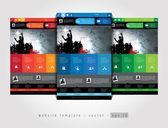 音乐设计网站模板 — 图库矢量图片