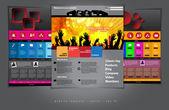 Modèles de site Web avec un design musique — Vecteur