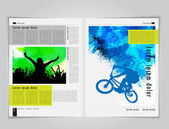Music and sport brochure template — Stockvector