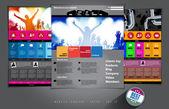 Website music event template — Stock Vector