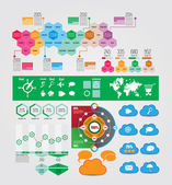 Set of infographics elements — Stock Vector