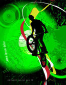 BMX cyclist — Stockvektor