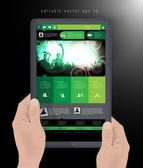 Tablet pc — Stockvektor