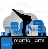 Martial art — Stock Vector