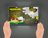 Magazine layout — Stock Vector