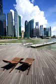 Business district in Singapore City — Stock Photo