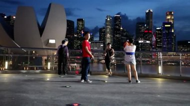 Singapore City Skyline — Stock Video