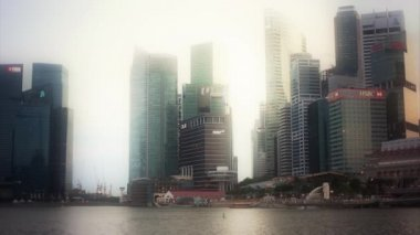 Singapore city skyline — Stockvideo
