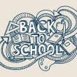 Back to school vector! — Vector de stock #12490028