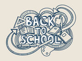 Back to school vector! — Stockvektor