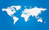 Vector 3d-wereldkaart — Stockvector