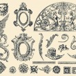 Royalty-Free Stock Immagine Vettoriale: Hand drawn vector retro ornaments