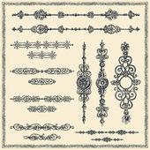 Vector de elementos de diseño vintage — Vector de stock