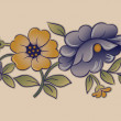 Vintage Flower Design — Stockvectorbeeld