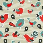 Fresh social media birds communication pattern — Stock Vector #11454855