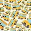Royalty-Free Stock Vector Image: School bus pattern