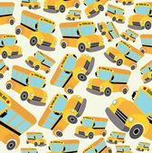 School bus pattern — Stock Vector